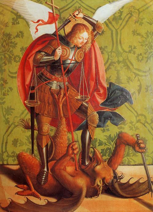 Ο Αρχάγγελος Μιχαήλ σκοτώνει των Εωσφόρο
