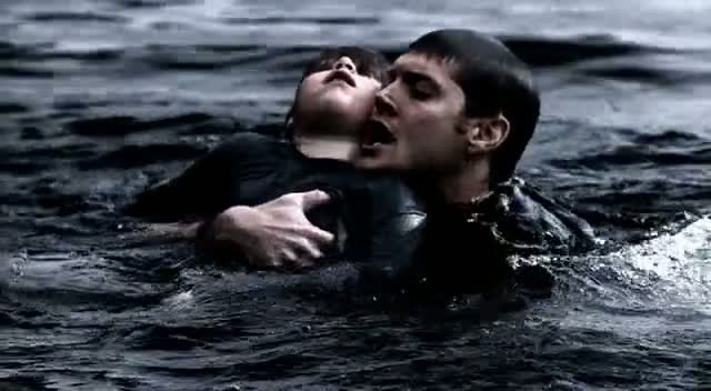 dean saves lucas - dead in the water