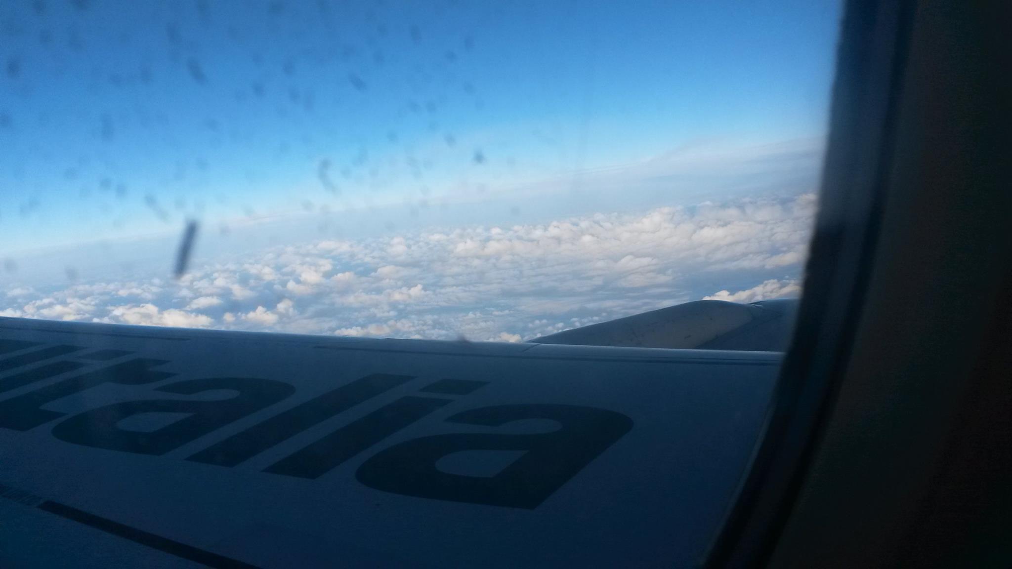 aeroplane rome greece alitalia clouds view