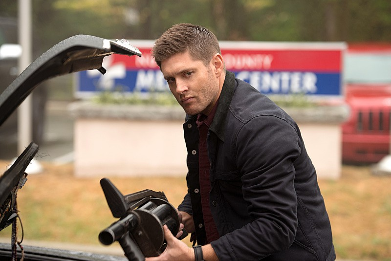 angry dean with grenade launcher 11x01