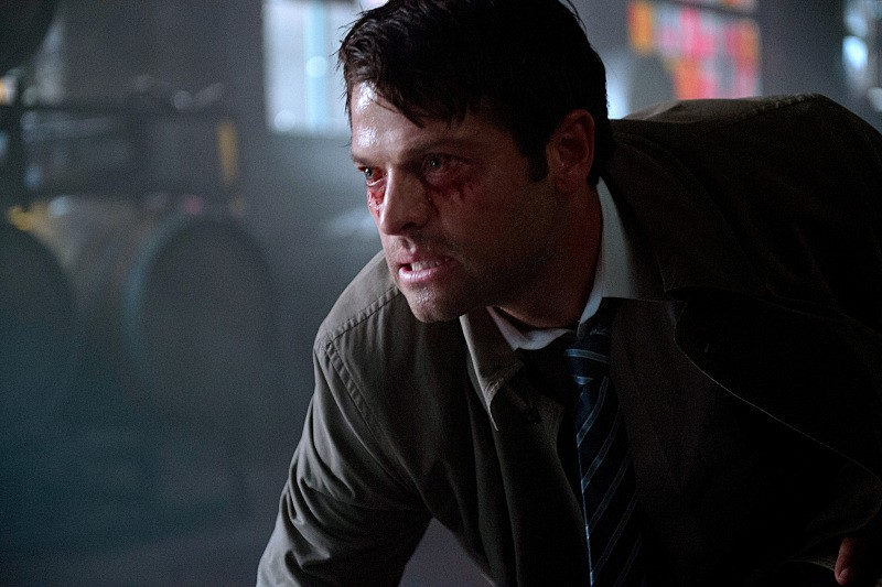 castiel under spell rowena bloody eyes 11x01