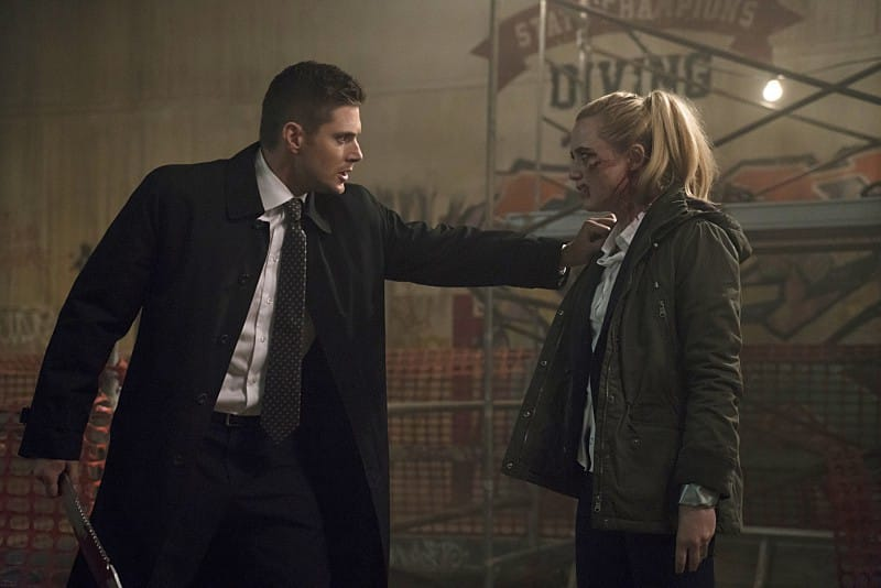 11x12 - Don't You Forget About Me Jensen Ackles Dean Kathryn Love Newton Claire Novak knife