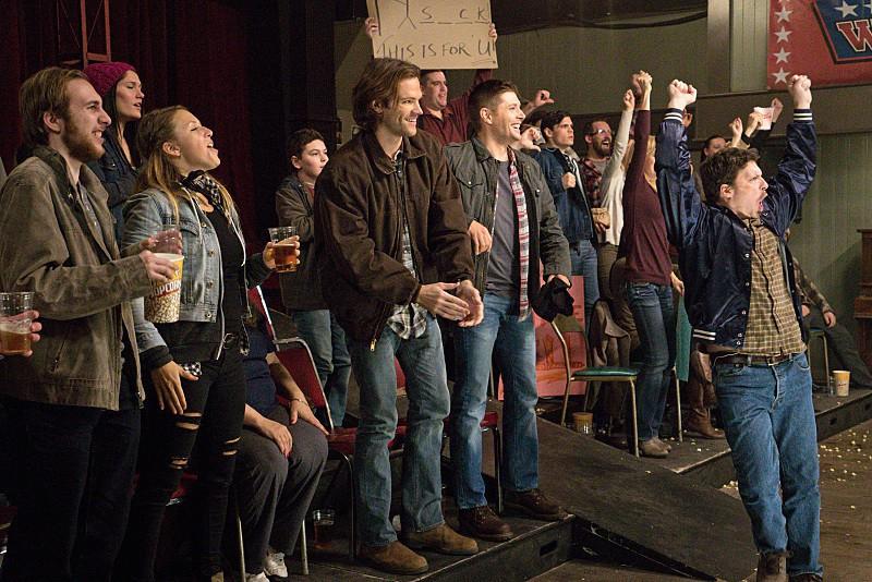 11x15 Beyond The Mat Jared Padalecki as Sam and Jensen Ackles as Dean