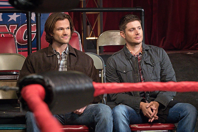 11x15 Beyond The Mat Jared Padalecki as Sam and Jensen Ackles as Dean