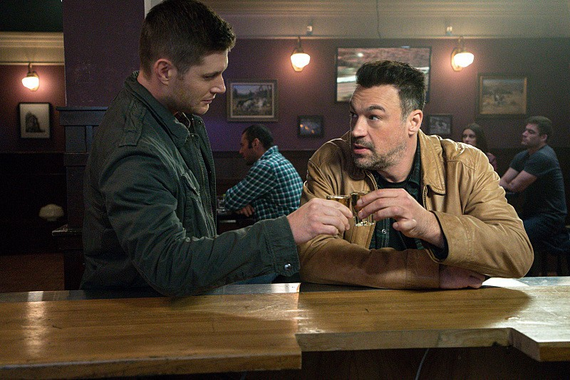 11x15 Beyond The Mat Jensen Ackles as Dean and Aleks Paunovic as Gunnar Lawless