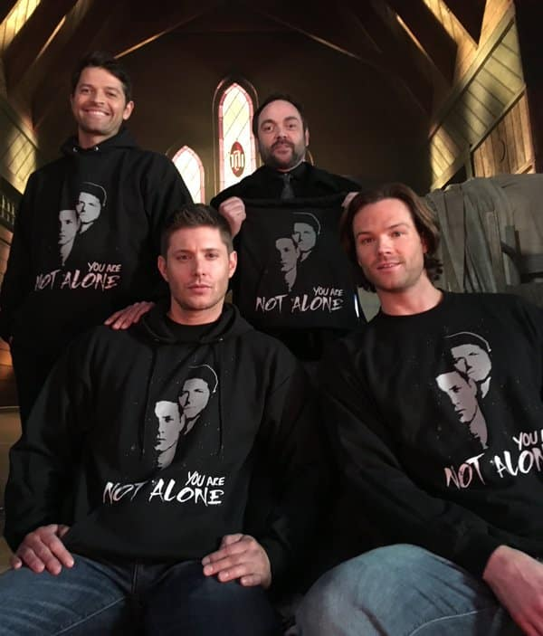 you are not alone campaign misha collins jensen ackles jared padalecki mark sheppard