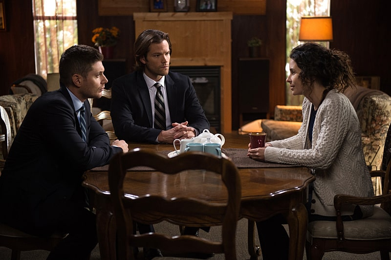 11x16 Safe House ensen Ackles as Dean, Jared Padalecki as Sam and Holly Elissa as Mary Henderson