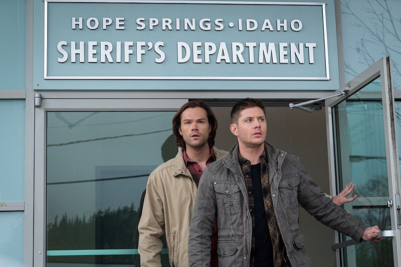 "Supernatural -- ""Don't Call Me Shurley"" -- Image SN1120A_0006.jpg -- Pictured (L-R): Jared Padalecki as Sam and Jensen Ackles as Dean -- Photo: Liane Hentscher/The CW -- © 2016 The CW Network, LLC. All Rights Reserved"