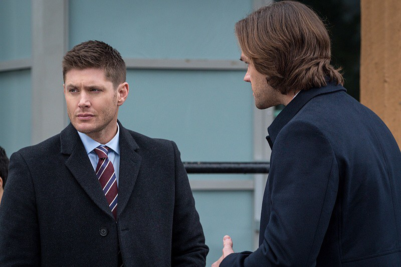 """Supernatural -- """"Don't Call Me Shurley"""" -- Image SN1120A_0047.jpg -- Pictured (L-R): Jensen Ackles as Dean and Jared Padalecki as Sam -- Photo: Liane Hentscher/The CW -- © 2016 The CW Network, LLC. All Rights Reserved"""