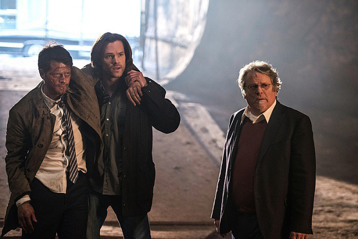 11x21 All In The Family Misha Collins as Castiel Lucifer, Jared Padalecki as Sam and Keith Szarabajka as Donatello Redfield