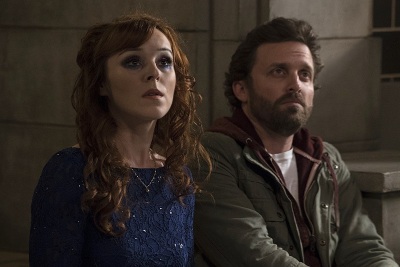 11x23 Alpha and Omega season finale Ruth Connell as Rowena and Rob Benedict as Chuck Shurley god