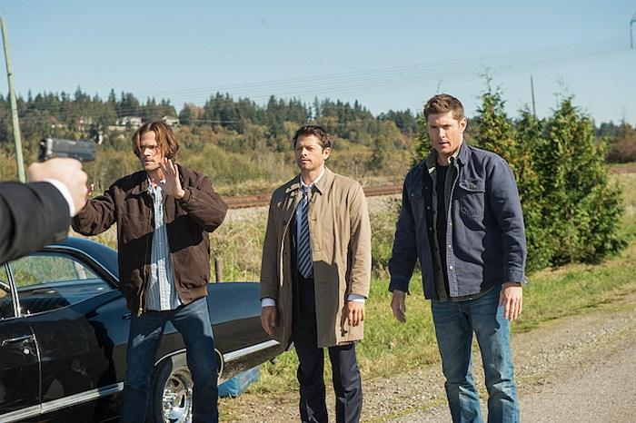 LOTUS LOTUS Castiel Winchesters Sam Dean at gunpoint